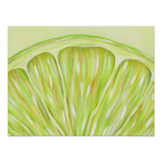 """Sublime"" macro lime slice poster"
