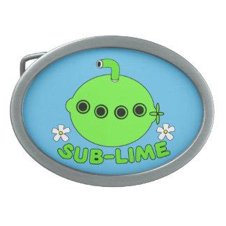 Sublime Sub Lime Oval Belt Buckle