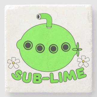Sublime Sub Lime Stone Coaster