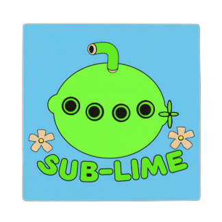 Sublime Sub Lime Wooden Coaster