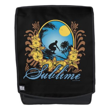 Beach Themed Sublime Surfer Backpack