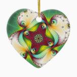 Subltle Glow - Fractal Art Ceramic Ornament