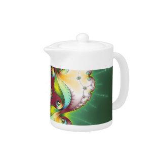 Subltle Glow - Fractal Art Teapot