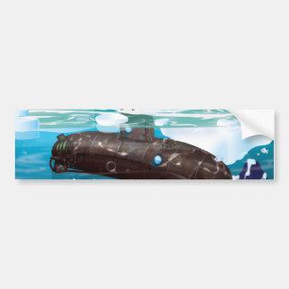 Submarine Arctic Adventure Bumper Sticker