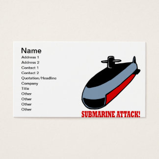 Submarine Attack Business Card