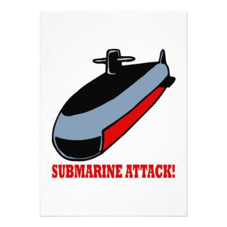 Submarine Attack Invitations