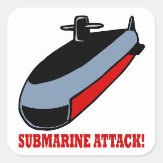 Submarine Attack Square Sticker