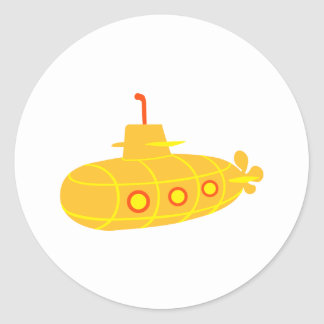 Submarine boat classic round sticker