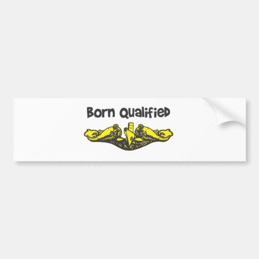 Submarine Dolphin Insignia Bumper Sticker