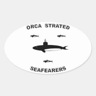 SUBMARINE FORCE OVAL STICKER