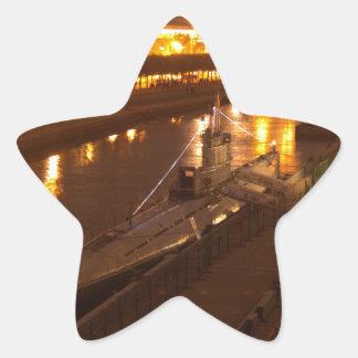 Submarine In St Petersburg Star Sticker