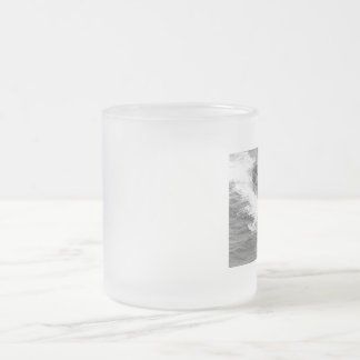 submarine in suface - surfaced submarine frosted glass coffee mug