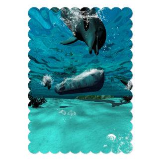 "Submarine 5"" X 7"" Invitation Card"