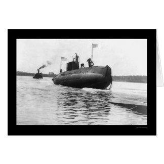 Submarine Launch Navy 1909 Card