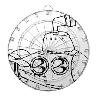 Submarine monochrome cartoon dart boards