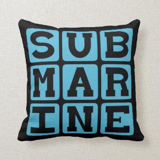 Submarine, Ocean Vessel Throw Pillow