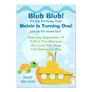 Submarine Party Card