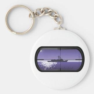 Submarine Patrol Basic Round Button Keychain