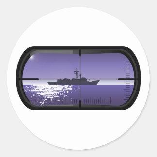 Submarine Patrol Classic Round Sticker