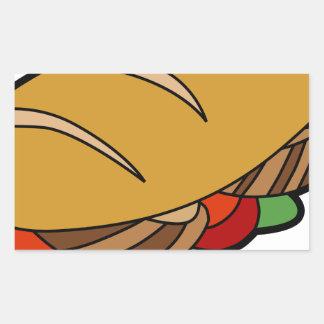 Submarine Sandwich cartoon Rectangular Sticker