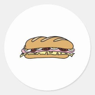 Submarine Sandwich Classic Round Sticker