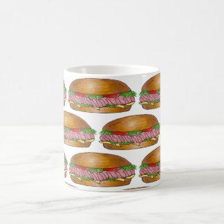 Submarine Sandwich Ham Cheese Hoagie Sub Grinder Coffee Mug