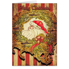 Submarine Santa Christmas Card at Zazzle