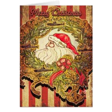 Christmas Themed Submarine Santa Christmas Card