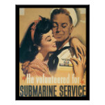 Submarine Service WWII Poster