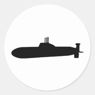 Submarine Round Sticker