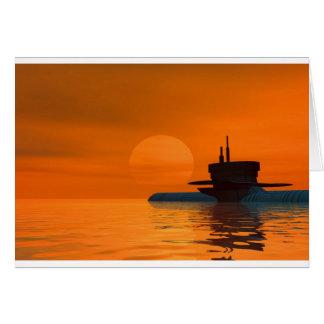 Submarine Tarjeta De Felicitación