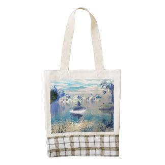 Submarine turn up zazzle HEART tote bag