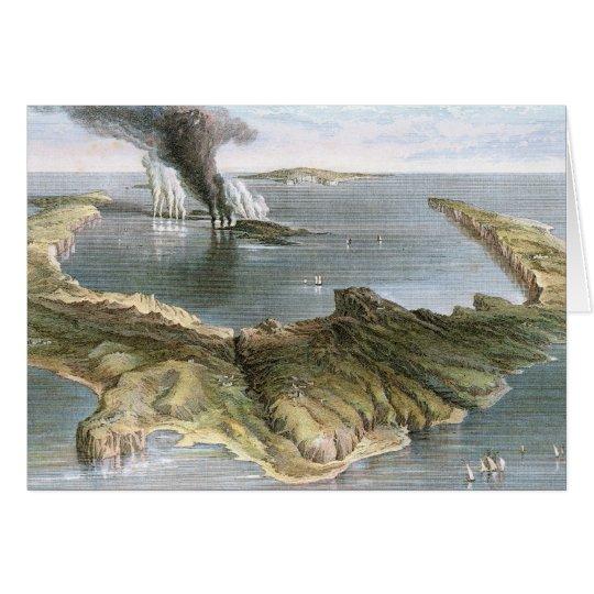 Submarine Volcano Island of Santorini Card