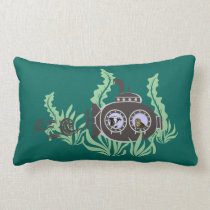 Submarine with Cow and Owl Inside Lumbar Pillow