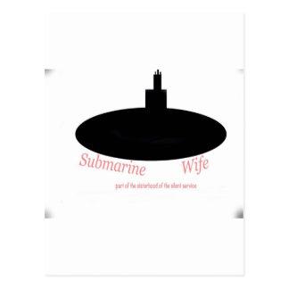 Submarine wives postcard