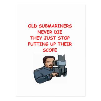 SUBmariners never die Postcard