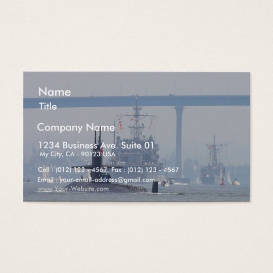 Submarines Subs Nuclear Ships Navy Business Card