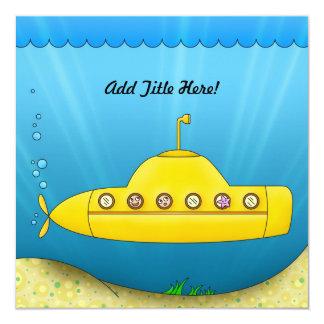 Submarino amarillo - bajo invitación del mar