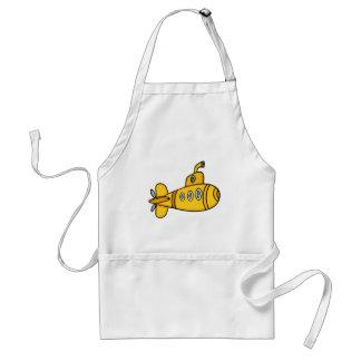 Submarino amarillo del dibujo animado delantal