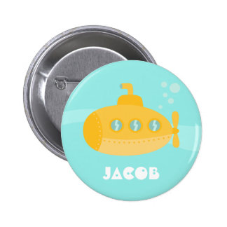 Submarino amarillo lindo, subacuático, para los ni pin