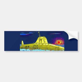 Submarino amarillo pegatina para auto