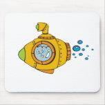 Submarino amarillo tapete de raton