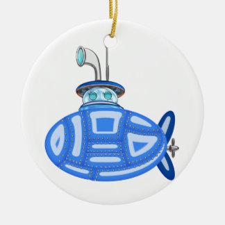 Submarino azul adorno