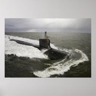 submarino de ataque del Virginia-class Poster
