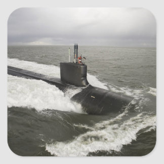 submarino de ataque del Virginia-class Pegatina Cuadrada