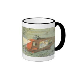 Submarino de la ciencia ficción del vintage debajo taza de café