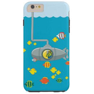 Submarino de la mirada furtiva Tom (iphone) Funda Resistente iPhone 6 Plus