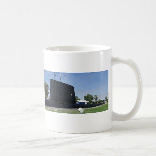 Submarino de la tierra tazas de café