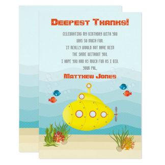 """Submarino del amarillo del mar profundo invitación 3.5"""" x 5"""""""