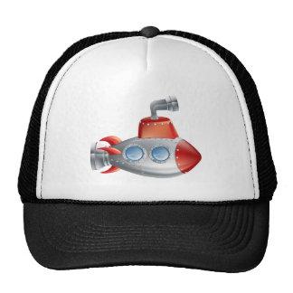 Submarino del dibujo animado de la diversión gorras de camionero